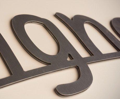 Lettre Dibond 3 mm