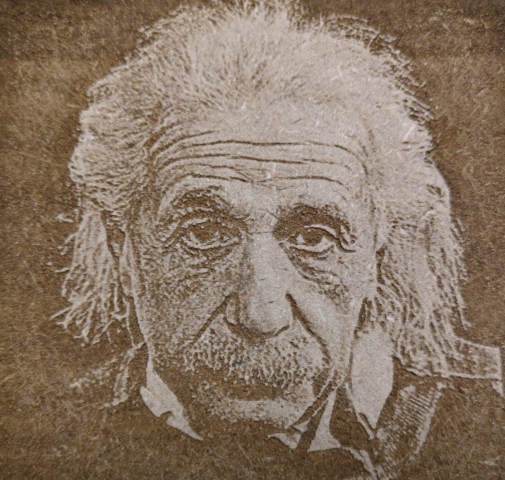 Gravure laser bois portrait